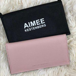 Aimee Kestenberg Blush Pink Flat Wallet